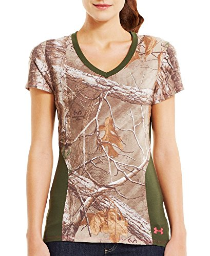 Under-Armour-Womens-Charged-Cotton-Camo-V-Neck