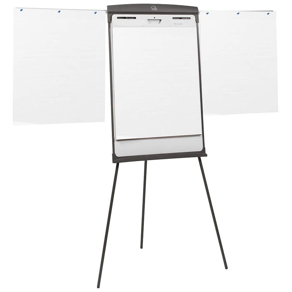 Quartet Easel, Magnetic Whiteboard/Flipchart, 27'' x 35'', 70'' Tall, Graphite (67E) (Renewed) by Quartet