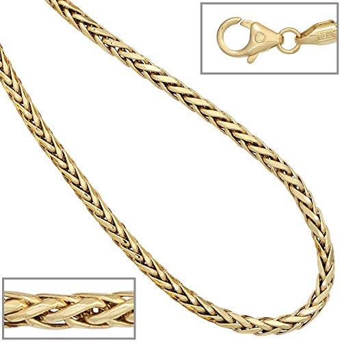 Bracelet tresse bracelet femmes 585 or jaune 14 cts longueur de 19 cm de diamètre 0,26 cm