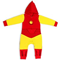 Marvel Heroes Boy's Zip Up Hooded Coverall, 100% Cotton