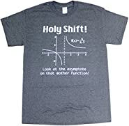 Holy Shift Math Geometry Physics Adult Mens Unisex Funny T-Shirt Heather Black