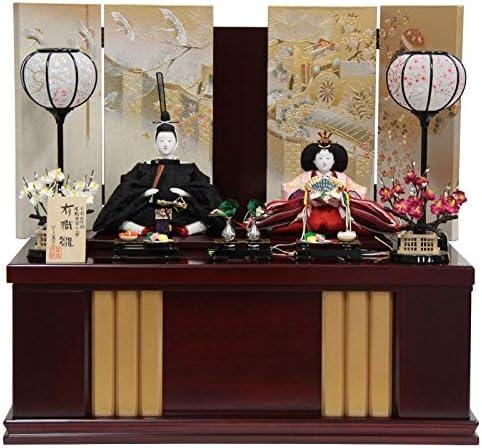 雛人形 親王収納飾り【有職雛】正絹雲鶴[幅60cm]望月麗光[193to1714a77] 雛祭り