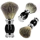 GRUTTI Shaving Brush 100% Pure Badger Shaving Brush Shaving Cream Brush for Men Wet Shaving