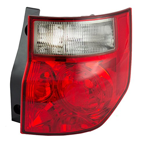 - Passengers Taillight Tail Lamp with Bright Red Lens Replacement for Honda 33501SCVA01