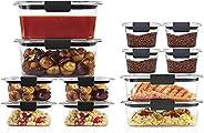 Tampas de plástico de 24 peças Rubbermaid Brilliance Storage   Livre de BPA, recipiente de alimentos à prova d