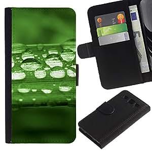 OMEGA Case / Samsung Galaxy S3 III I9300 / THE LORD IS LIGHT - PSALM 27:1 / Cuero PU Delgado caso Billetera cubierta Shell Armor Funda Case Cover Wallet Credit Card