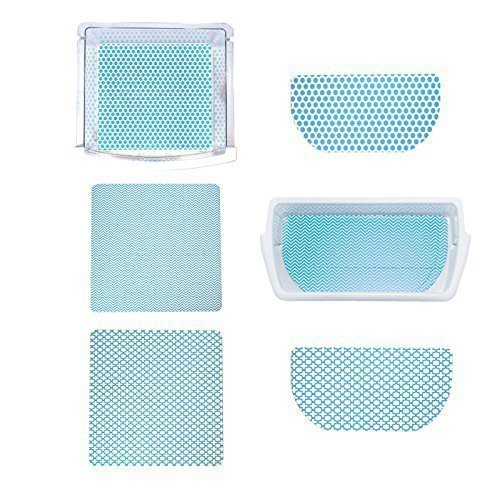 Fridge Coaster Combo Pack, Blue (Set of 6)