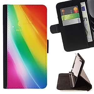 For Sony Xperia Z3 Compact / Z3 Mini (Not Z3) Case , Colores en colores pastel brillantes de dibujo- la tarjeta de Crédito Slots PU Funda de cuero Monedero caso cubierta de piel
