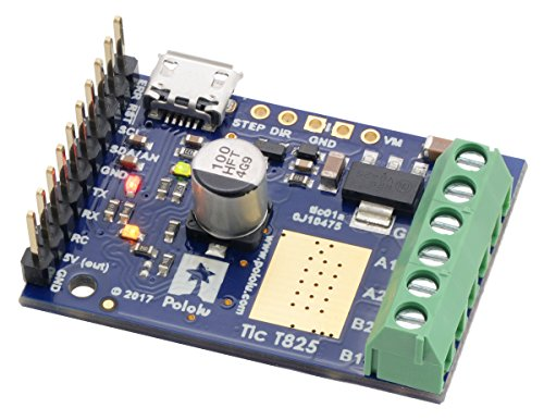 Bipolar Stepper Motor Controller - Tic T825 USB Multi-Interface Stepper Motor Controller (Connectors Soldered)