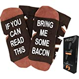 """Bring Me Some Bacon"" Dress Socks - Perfect Gift for Bacon Lover and Present Idea for Him, Funny Novelty Present or Gag Gift Idea for Husband"