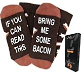 """""""Bring Me Some Bacon"""" Dress Socks - Perfect Gift for Bacon Lover and Present Idea for Him, Funny Novelty Present or Gag Gift Idea for Husband"""