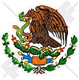 """MEXICO Mexican Coat of Arms Badge Crest 100mm (4"""") Vinyl Bumper Sticker, Decal"""