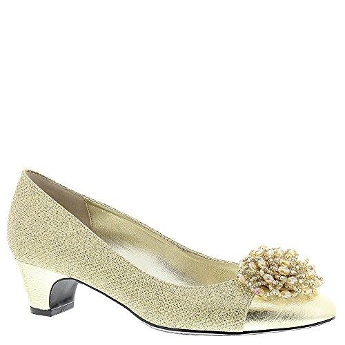 [J. Renee Women's Rashana Pump,Gold Harlequin Glitter Fabric/Metallic Nappa,US 7] (Womens Harlequin Shoes)