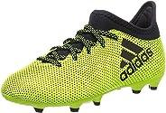 Adidas X 17.3 FG Firm Ground Kids Soccer Soccer Boot Yellow Ocean Storm