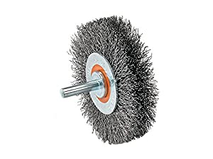 Walter 13C175 Crimped Wire Mounted Brush - Durable Die Grinder Brush for General Cleaning Purpose. Wire Wheel Brushes