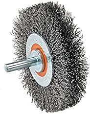 Walter 13C170 Crimped Wire Mounted Brush – 5/8 in. Width, 2 in. Stainless Steel Brush for Surface Cleaning. Ab