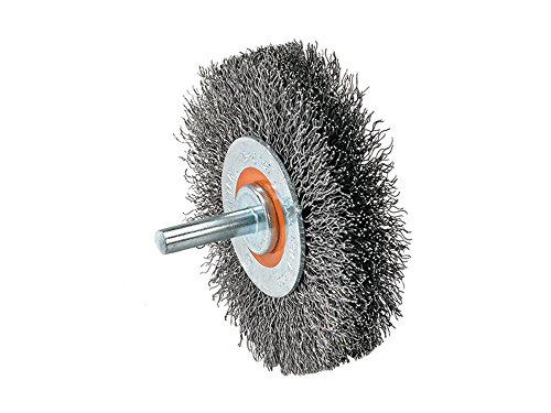 Stainless Steel Crimped Wire - Walter 13C170 Crimped Wire Mounted Brush - 5/8 in. Width, 2 in. Stainless Steel Brush for Surface Cleaning. Abrasive Finishing Brushes
