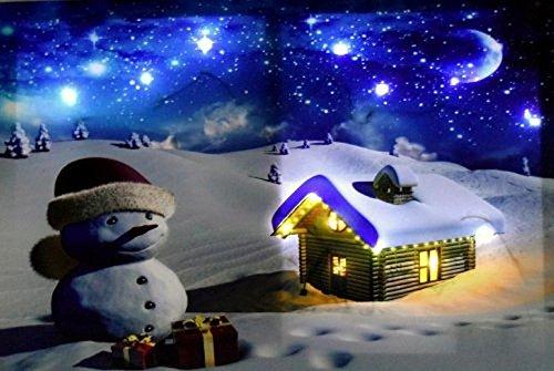 Weihnachtsbilder Mit Led.Tinas Collection Weihnachtsbild Schneemann Led Mit 14 Leds 40 X 60 Cm