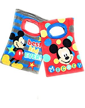 Disney Mickey Mouse Pluto Toddler Baby Boys 2 Pack Bibs