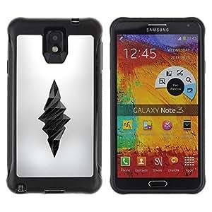 "Pulsar iFace Series Tpu silicona Carcasa Funda Case para SAMSUNG Galaxy Note 3 III / N9000 / N9005 , Poli Arte Daga Muerte profundo Seda Gris"""