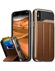 iPhone X Wallet Case, Vena [vCommute][Military Grade Drop Protection] Flip Leather Cover Card Slot Holder with Kickstand for iPhone X / 10
