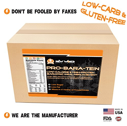 """New World Nutritionals Pro-Bara-Tein Low-Calorie & High Protein Baraitric Meal Replacement """" (3 lbs, Vanilla) Review"""