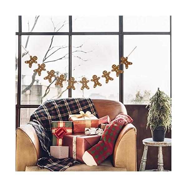 Heaven Sends Legno Gingerbread Man Ghirlanda Natalizia Decorazione, 2M 4 spesavip