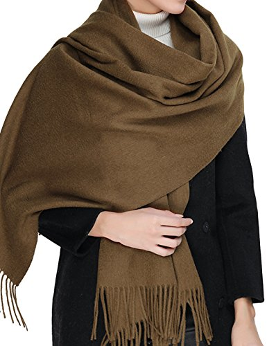 Cashmere Wool Scarf,Large Soft Women Men Scarves Winter Warm Shawl Gift