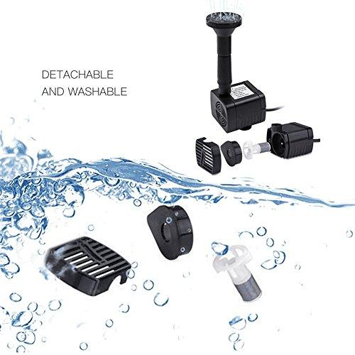 Lewisia 5W Solar Fountain Pump for Pool Koi Pond Bird Bath Garden Decoration Submersible Water Pump Kit