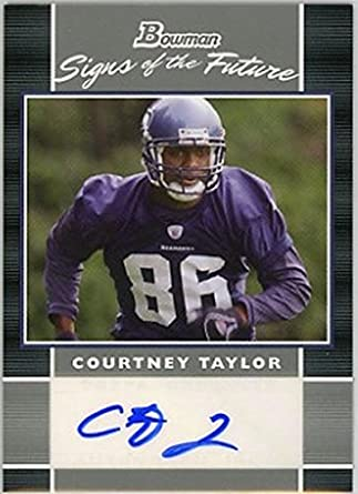 Amerikaans voetbal 2007 Playoff Contenders 131 Courtney Taylor Seattle Seahawks Auto RC Rookie Card