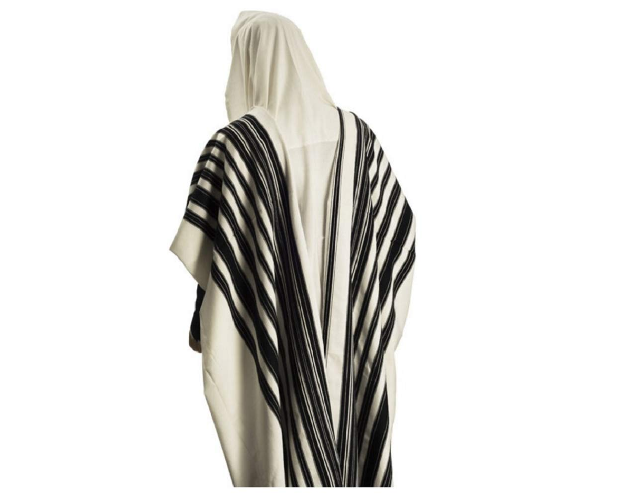 100% Wool Tallit Prayer Shawl Model CHABAD Size 46'' L X 67'' W 50-H