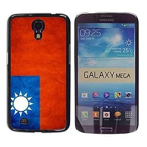 Slim Design Hard PC/Aluminum Shell Case Cover for Samsung Galaxy Mega 6.3 I9200 SGH-i527 National Flag Nation Country Taiwan / JUSTGO PHONE PROTECTOR