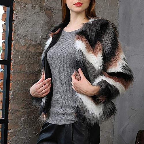 Overout Negro Chaqueta Grueso color Tamaño Multicolored1 Faux Cardigan Mujer Invierno Outwear Las De Parka 3xl 1 Abrigo Escudo Casual Cálido Señoras Prendas pqRFFO