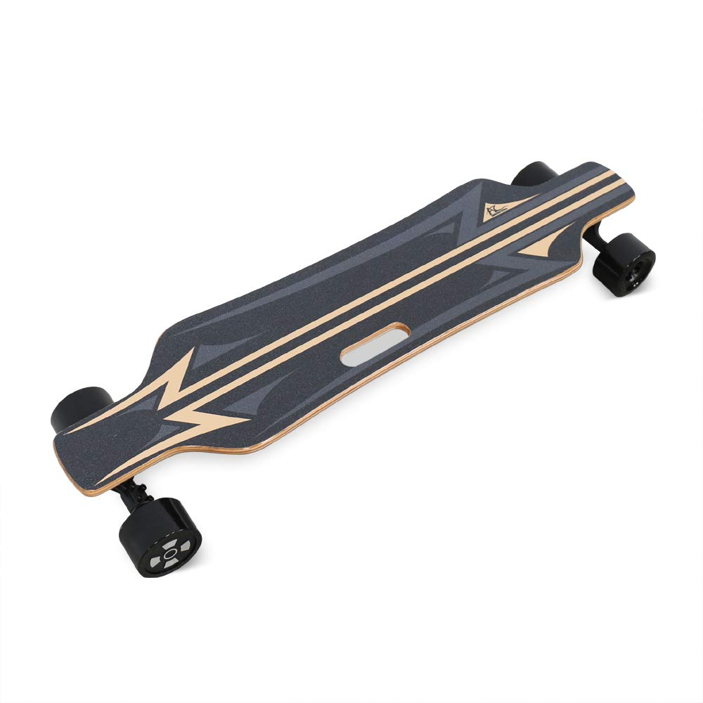 AC Electric Skateboard 350W Motor Longboard with Wireless Remote Control 6 Layers Maple 2 Layers Bamboo Bendable Deck and Smooth PU Caster Samsung Battery Cell