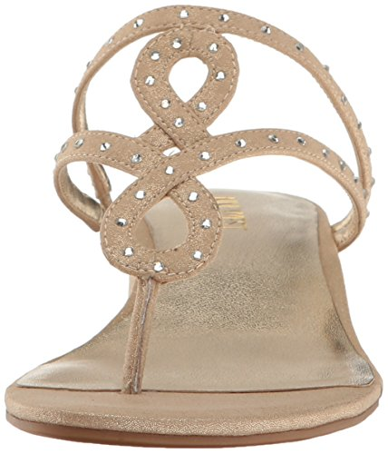 Nine West Women's Katherine Fabric Heeled Sandal Light Gold yqgVkdGuCm