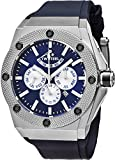 TW Steel CEO Tech Kivanc Limited Edition Stainless Steel Automatic Watch - Blue Dial Day Date Month 24-hour TW Steel Watch Mens - Blue Rubber Band 48mm Chronograph Watch CE4016