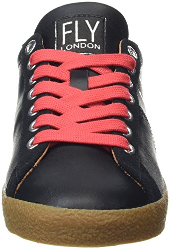 Mujer Blackred para London Laces Fly Zapatillas Berg823fly Black Negro wOq0vI1