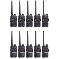 BaoFeng 10 BF-F8+ & 1 Cable 10pcs 2nd Gen UV-5R Dual-Band FM Ham Two-Way Radio Transceiver