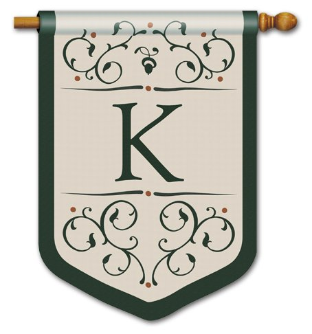 Grande Manor Monogram K Extra Large by BreezeArt™ (Monogram Grande)