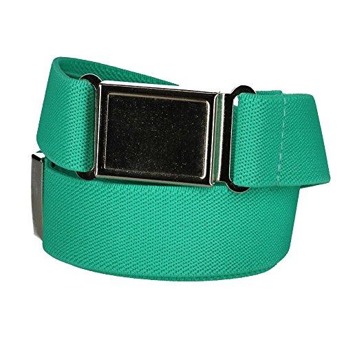 Green Kids Belt (CTM Kids' Elastic 1 Inch Adjustable Belt with Magnetic Buckle, Mint Green)