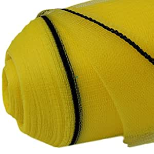 2M X 50M YELLOW ANTI BIRD POND INSECT HAIL CROP PROTECTION NETTING KNITTED