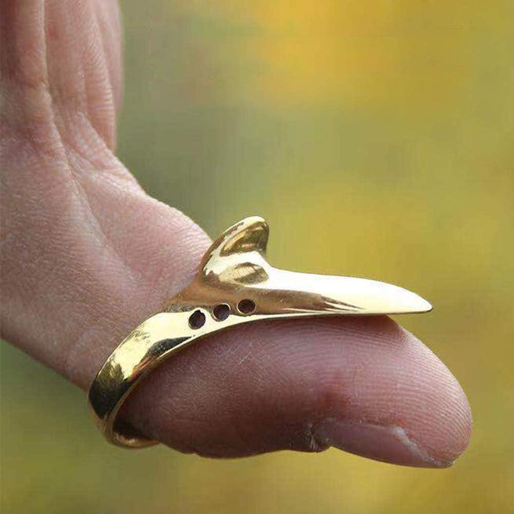 Alicer Messing Bogenschie/ßen Daumenring Jagdkatapult schmerzlos Fingerschutz Zubeh/ör