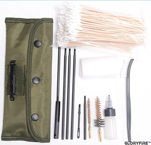 GLORYFIRE Gun Cleaning Kit AR15 / M16 Universal Gun Cleaning Kit for All M16 and AR15 Variants Tactical Rifle Gun Brushes Set (.22cal) (1CA-5055)