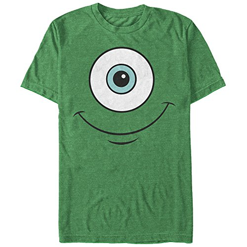 Fifth Sun Monsters Inc Men's Mike Wazowski Eye Smile Kelly Heather T-Shirt -