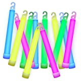 Etekcity Glow Sticks Party Favors Supplies for Kids Adults, Extra Thick Premium Industrial Grade Light up Toys for Birthday Party Halloween, Mixed Color, 25 Pack