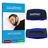 Sleep Power - Anti Snoring Chin Strap Device - Snoring Solution Sleep Aid Stops Snoring [Ease Breathing] - Effective Snore Relief - Most Effective Snoring Solution - Very Comfortable & Adjustable.