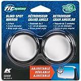 Fit System C0400 Driver/Passenger Side Stick-On Adjustable Blind Spot Mirrors - Pack of 2
