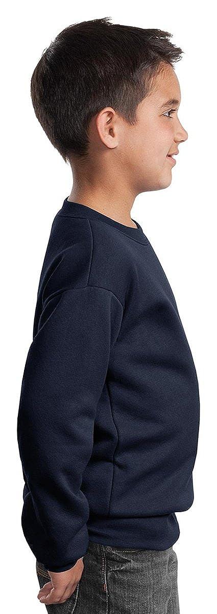 Port /& Company Youth Perfect Crewneck Waistband Sweatshirt/_Sangria/_Medium