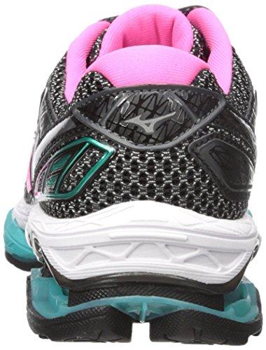 Mizuno Running Womens Wave Creation 19 Shoes Castlerock / Pink Glo / Black