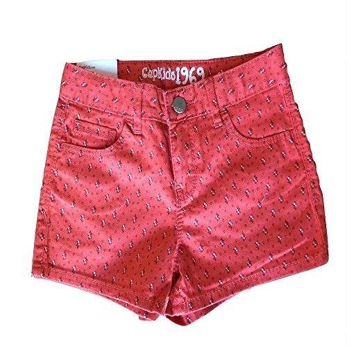 Gap Kids Girls' 1969 Skinny Fit Denim Shorts (6 Regular, Coral (Gap Girls Shorts)